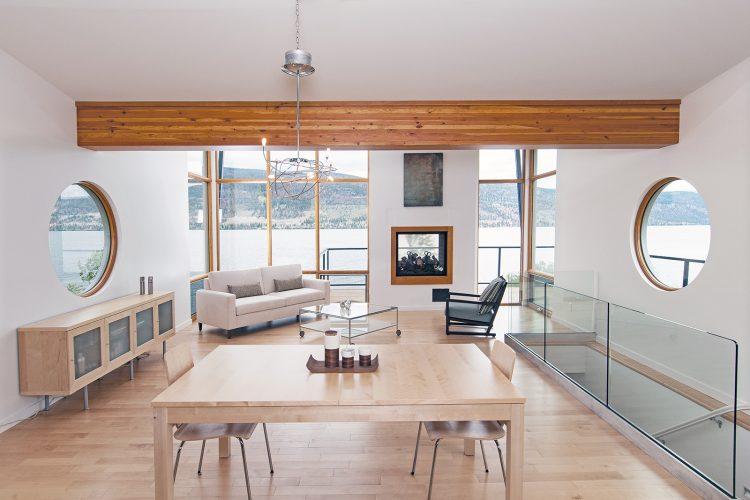 Contemporary home on a lake in the Thompson Nicola region, British Columbia, Canada