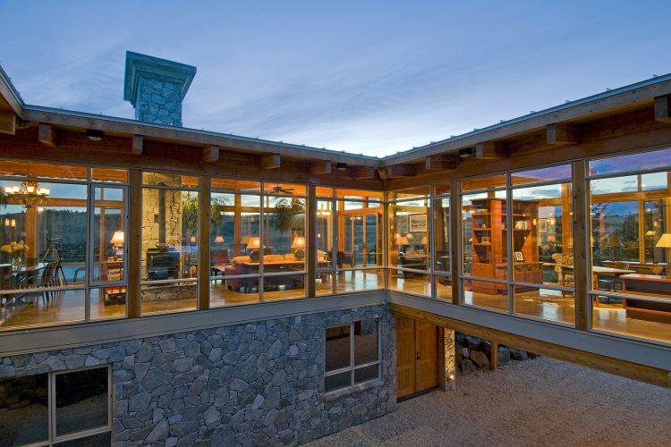 Beautiful glass house for a building company, near Kamloops, Thompson Okanagan Region, British Columbia, Canada