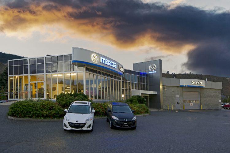 Kamloops Mazda dealership, photographed for Blue Green Architecture, Kamloops, British Columbia, Canada