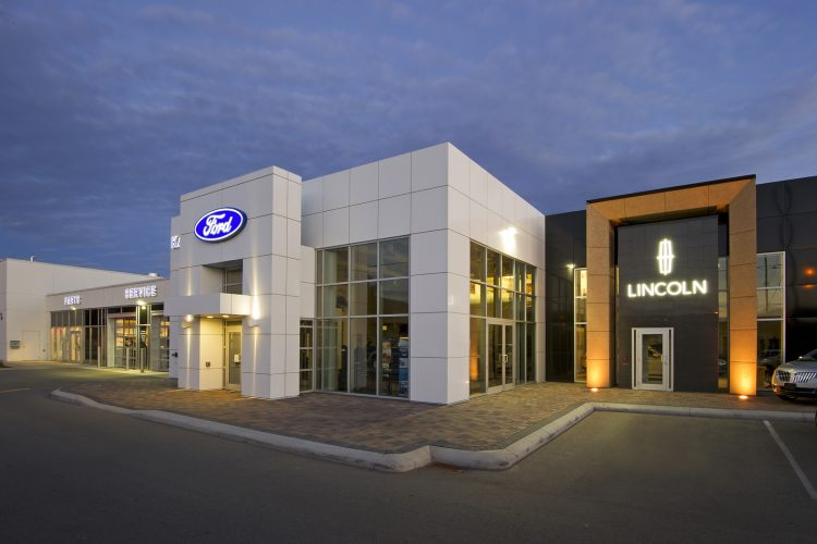 Ford Lincoln dealership taken for Blue Green architecture, Kamloops, British Columbia, Canada