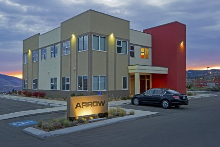 Arrow transport building taken for Blue Green Architecture, Kamloops, British Columbia, Thompson Okanagan region, Canada