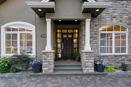 Entrance way of a beautiful home photographed for a developer in Kamloops, British Columbia, Canada