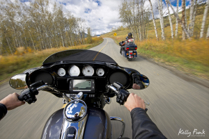 Motorcycles on a country road near Kamloops, British Columbia, Kelly Funk, professional photography, Canada, commercial photographer, fall, autumn