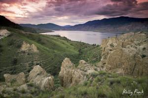 Hoodoos overlooking Kamloops Lake, Kelly Funk, Kamloops photographer, Kamloops commercial photographer, professional, landscape