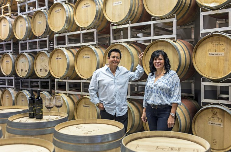 The owners of Indigenous World Winery, Kelowna, Okanagan region, Canada