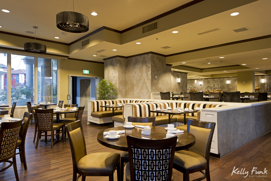 Street level restaurant space, working for Double Tree Hilton, commercial photographer, Kamloops photographer, professional, promotional, Kelly Funk, British Columbia, Canada