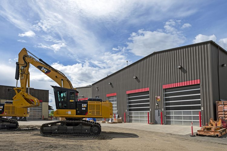 Commercial heavy duty industry image of the Kamloops facilities of Finning Canada