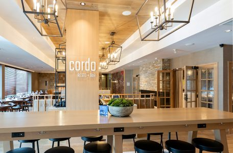 commercial image of Cordo restaurant inside the Delta Hotel, Kamloops, British Columbia, Thompson Okanagan region, Canada