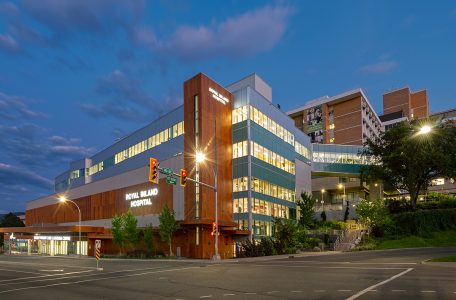 Kamloops, Royal Inland Hospital, photographed during a commercial shoot for TNRD, British Columbia, Canada