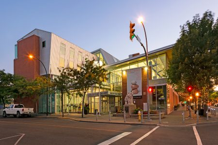 Exterior image of the Kamloops Civic Building for a commercial job for Bluegreen Architecture