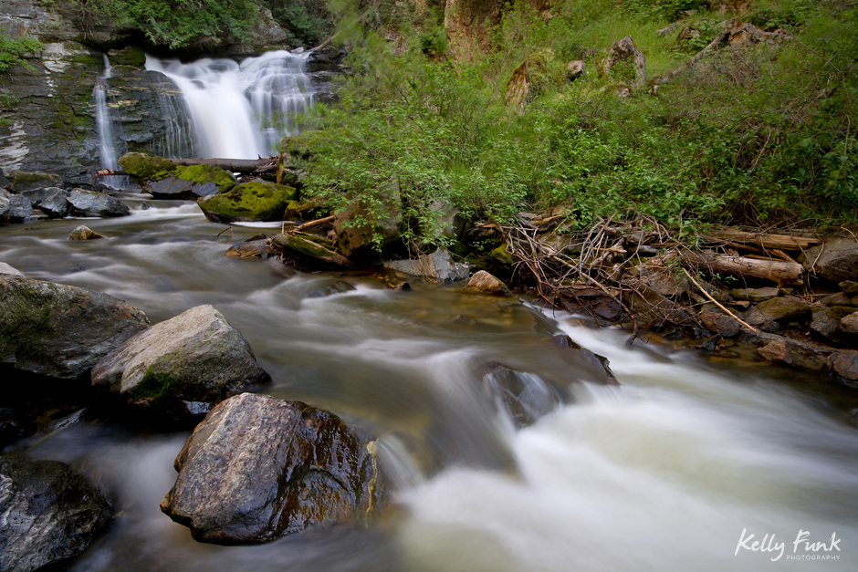 Chase falls as shot during a Magic of Water workshop, east of Kamloops, British Columbia, Canada