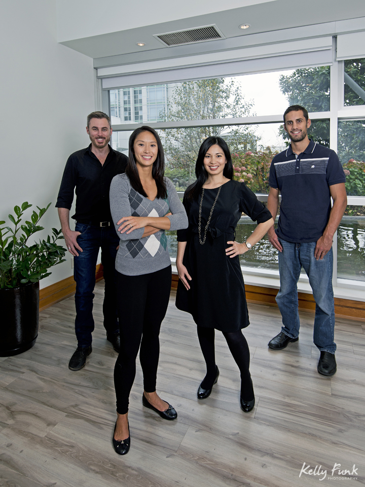 Portrait of the staff of a naturopathic clinic in Yaletown, Vancouver, BC