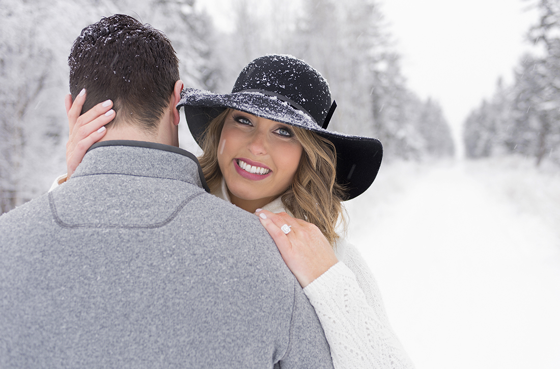Portrait shoot of a live proposal for 2 young, attractive people near Kamloops, British Columbia, Thompson Okanagan region, Canada