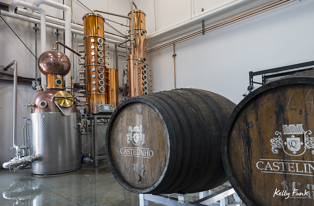 The distillery making whiskey, gin and vodka at The Winery of Kelowna's Indigenous World Winery during a commercial shoot, British Columbia, Canada