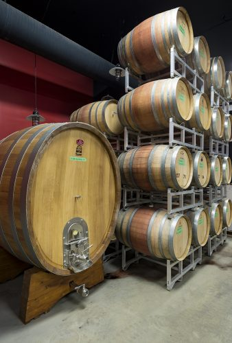 The Winery of Kelowna's Indigenous World Winery during a commercial shoot, British Columbia, Canada