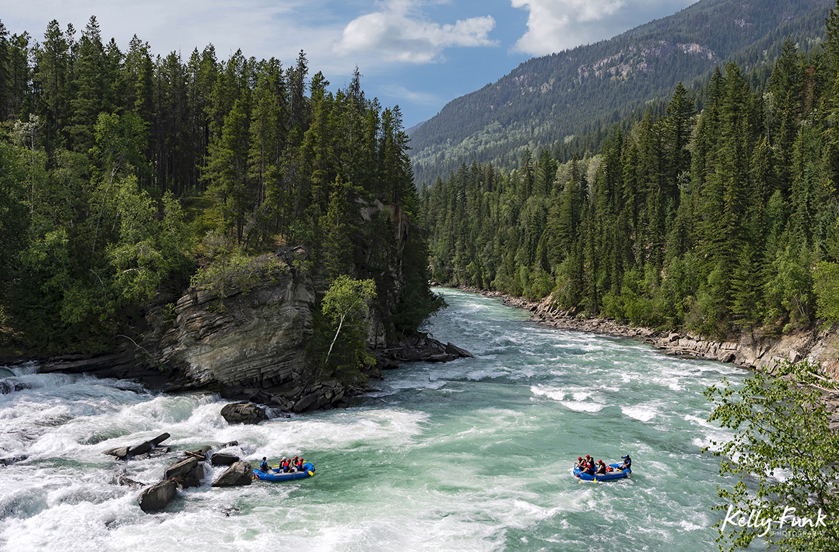 white water rafting, Rearguard falls, Fraser River, near Valemount, British Columbia, Canada