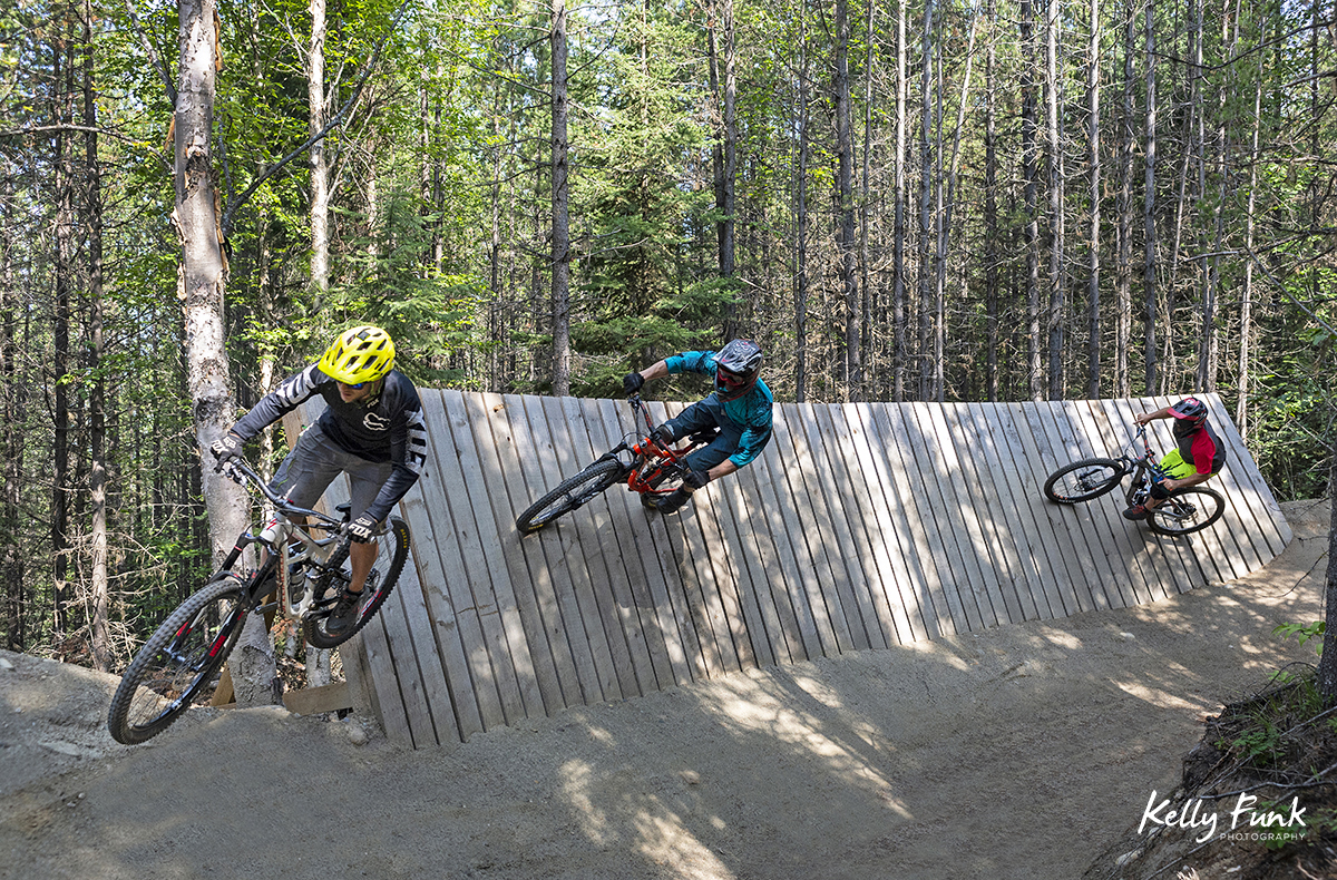 Riding the wall, Valemount, British Columbia, Canada