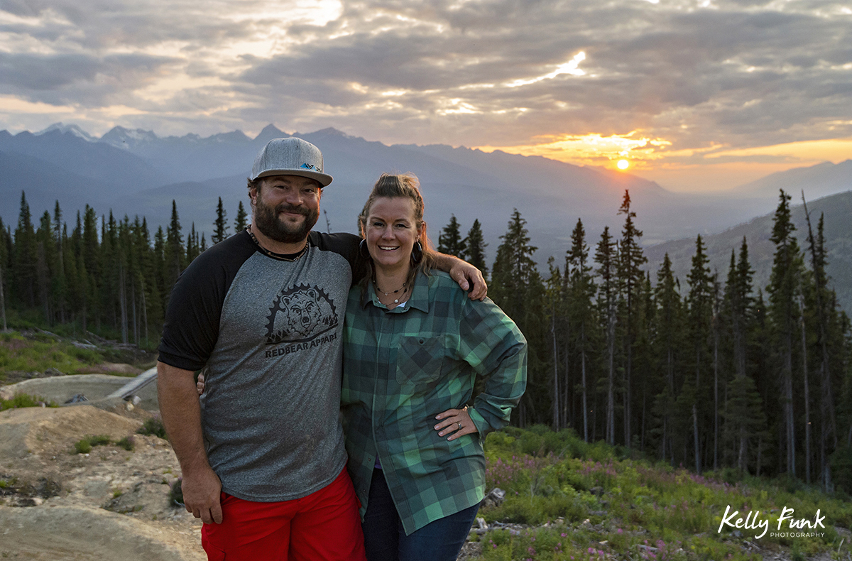 Portrait of the two organizers of recreational development in Valemount, BC
