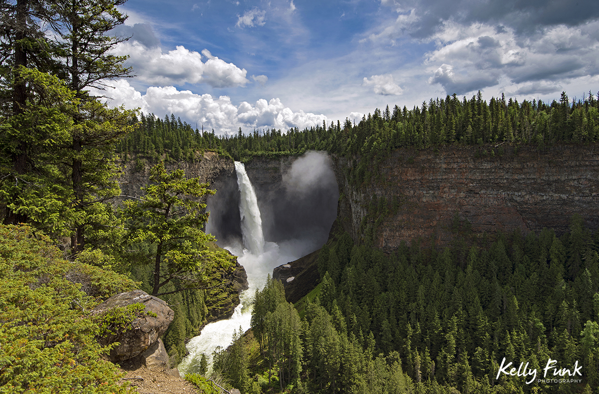 Helcken Falls in beautiful Wells Gray Provincial Park, near Clearwater, British Columbia, Thompson Okanagan region, Canada