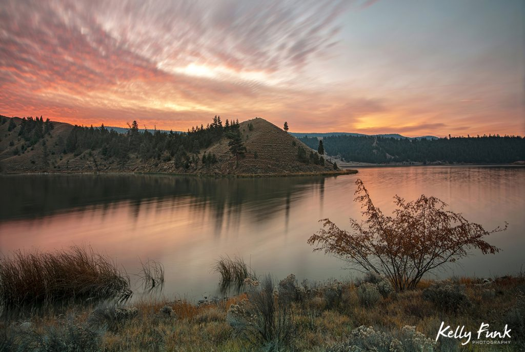 Trapp Lake photographed south of Kamloops, British Columbia, Canada at sunrise