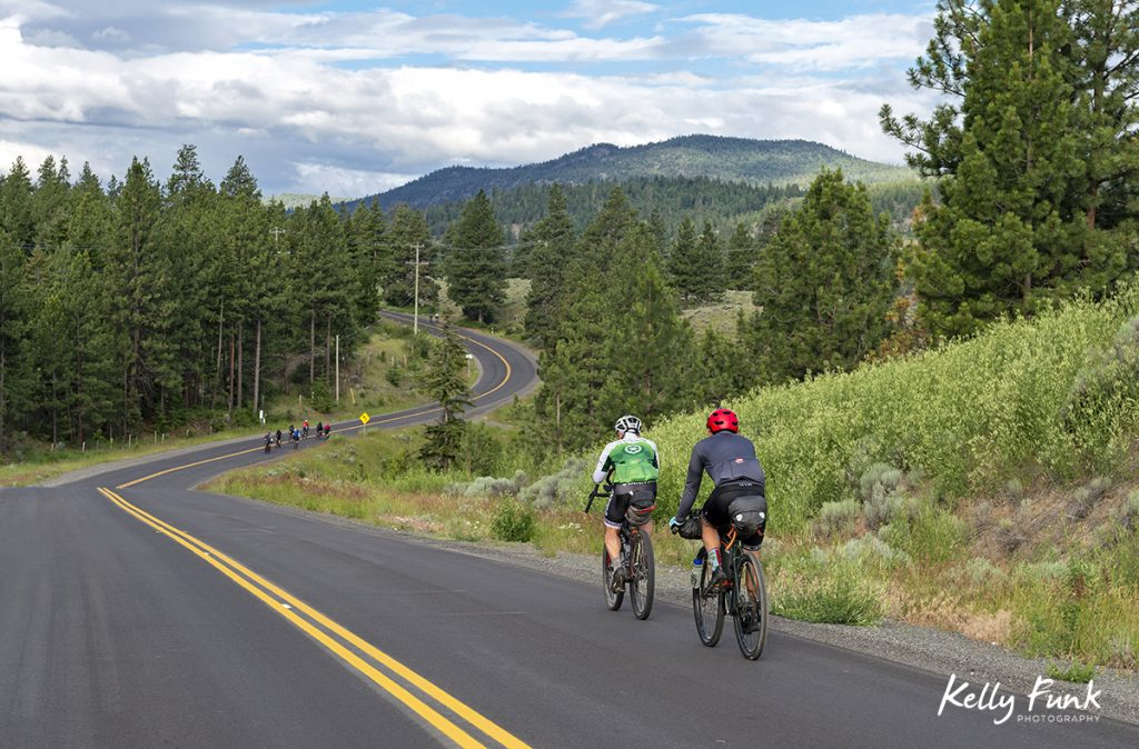 1000 km bike race from Merritt, British Columbia, Thompson Okanagan region, Canada