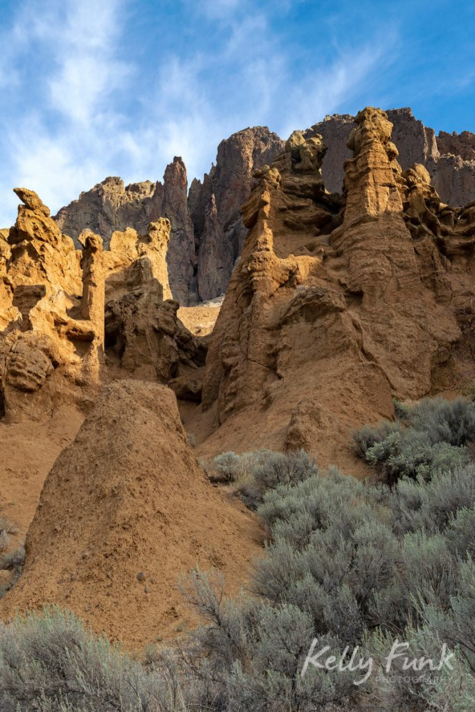 Hoodoos in the Lac du Bois protected grasslands, west of Kamloops, British Columbia, Canada