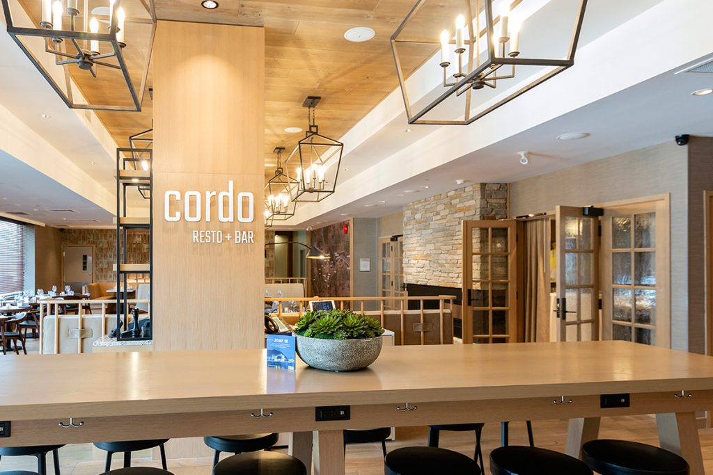 commercial image of Cordo restaurant inside the Delta Hotel, Kamloops, British Columbia, Thompson Okanagan region, Canada