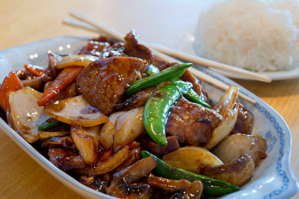 Chinese food is photographed for marketing and branding of a new restaurant in Kamloops, British Columbia, Canada