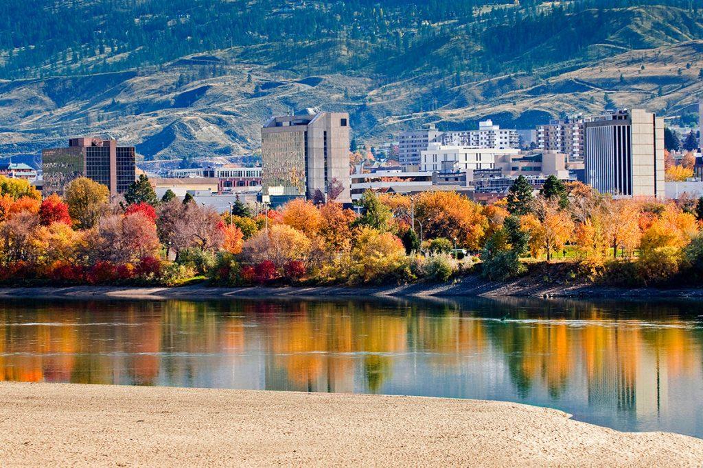 City of Kamloops in the fall, Thompson Okanagan region, BC, Canada