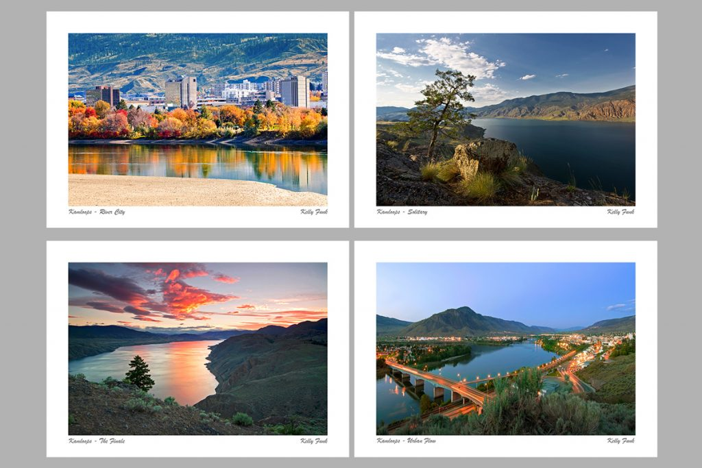 examples of corporate greeting cards from the Kamloops and Sun Peaks areas of BC, Canada