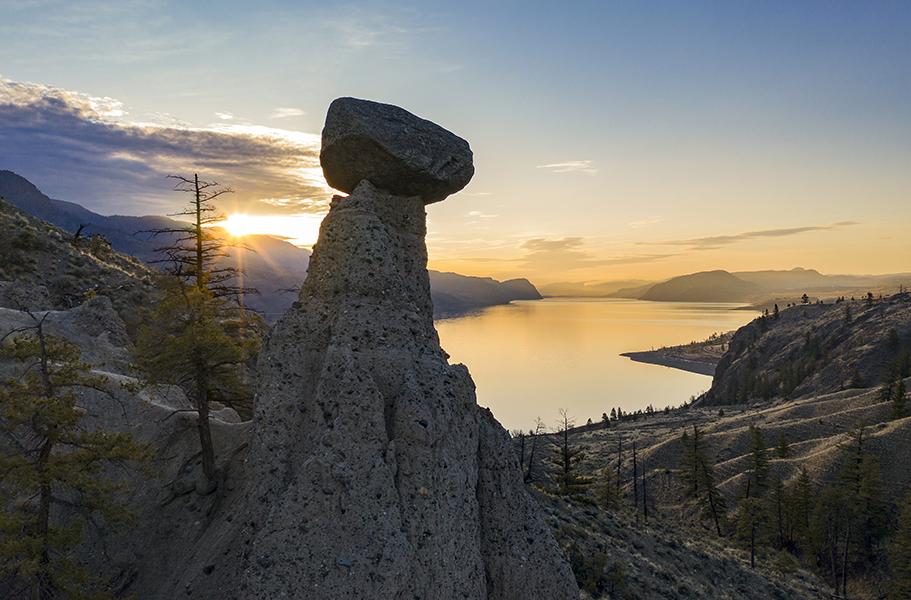 kamloops and sun peaks balancing rock