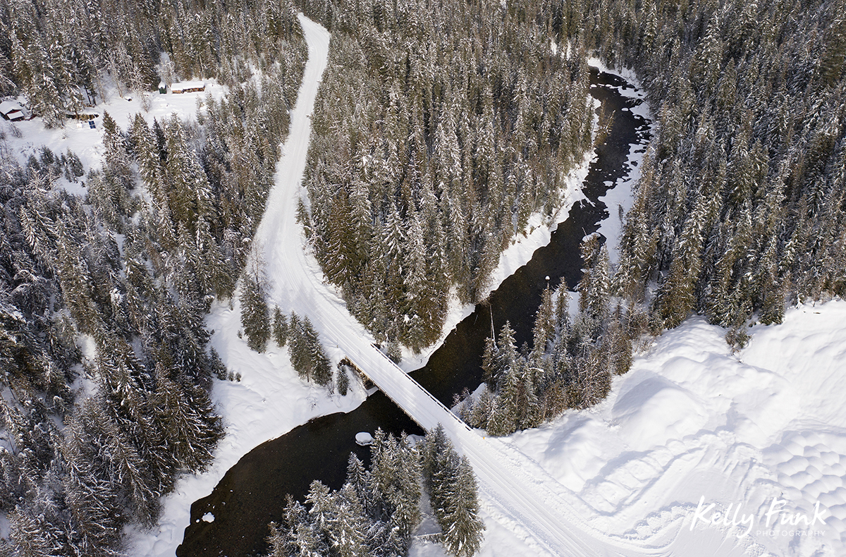 Aerial drone blog Barriere river