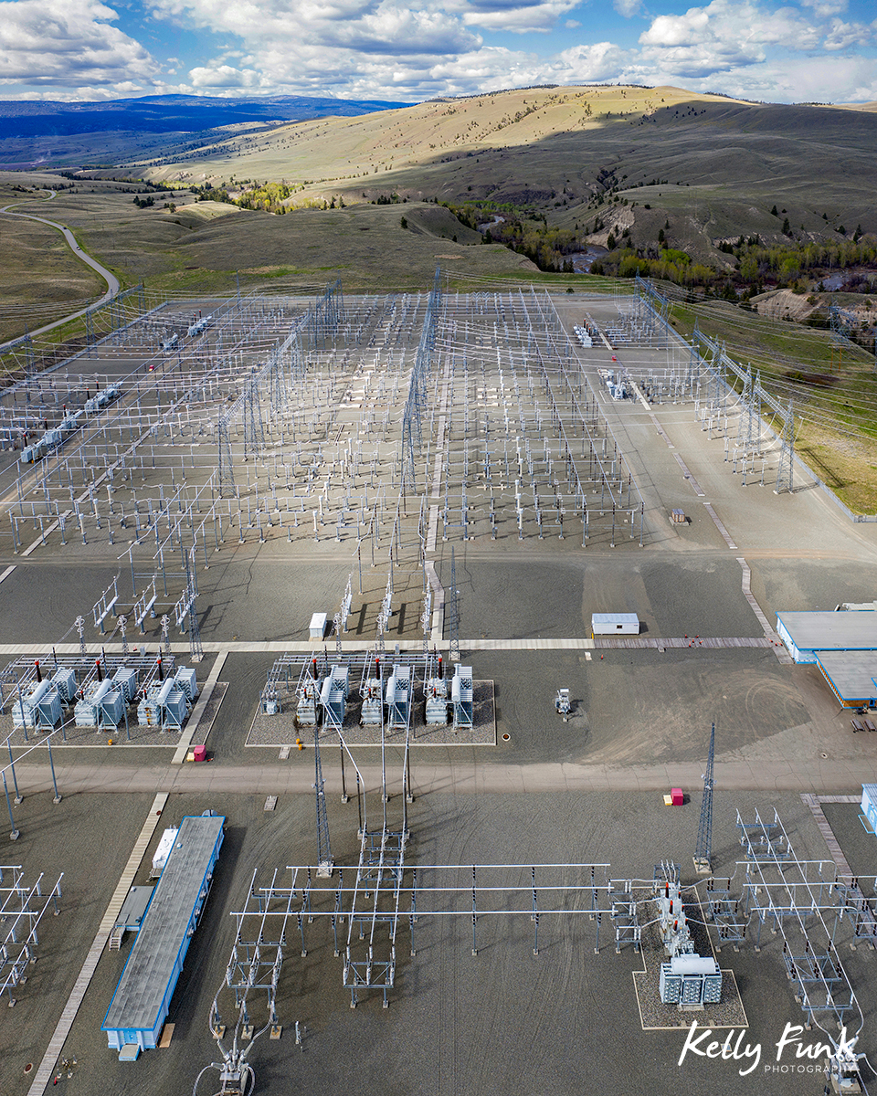 Aerial drone blog Nicola substation
