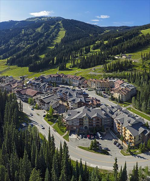 Sun Peaks village aerial